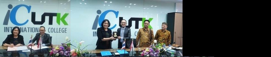 MOU dengan International Collage University of Technology Krungthep (IC-UTK) Thailand